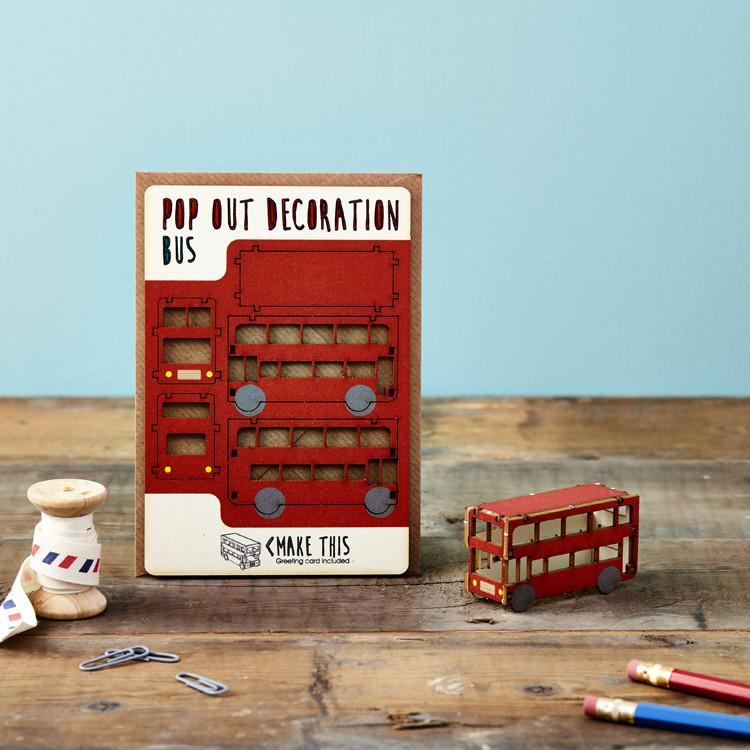 Pop Out Bus Greeting Card