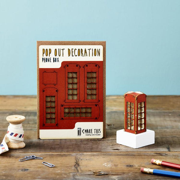 Pop Out Phone Box Greeting Card