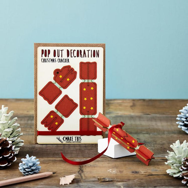 Pop Out Cracker Christmas Card