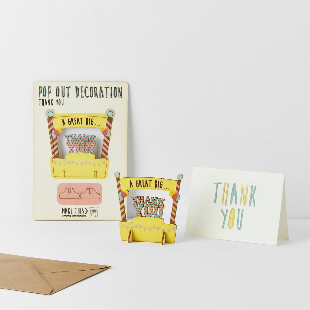 Pop Out Thank You Greeting Card
