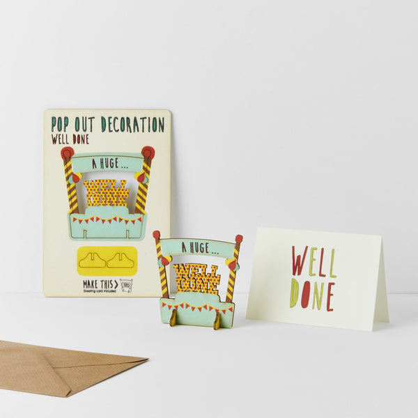 Pop Out Well Done Greeting Card