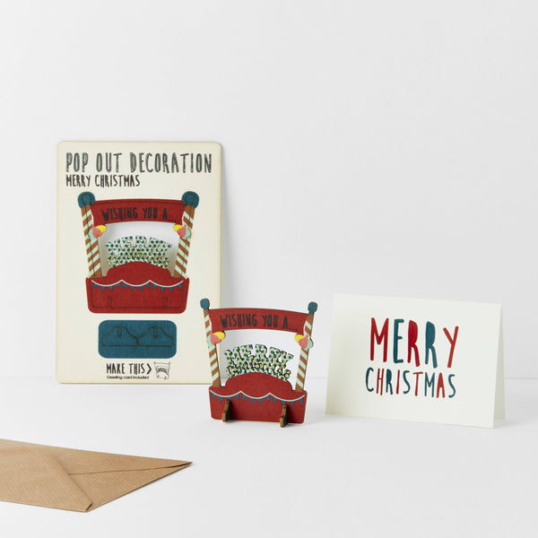Pop Out Merry Christmas Card