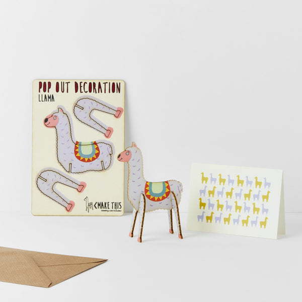 Pop Out Llama Greeting Card