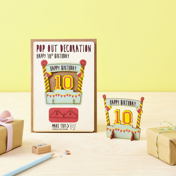 Pop Out 10th Birthday Card