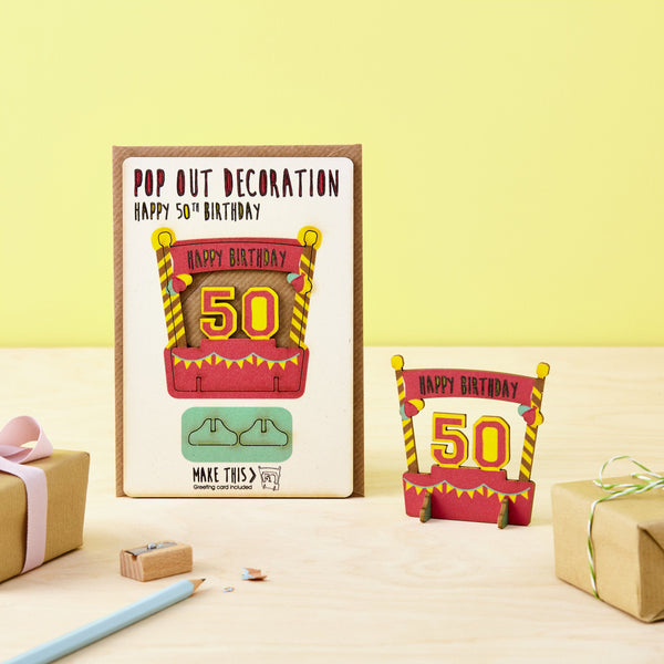 Pop Out 50th Birthday Card