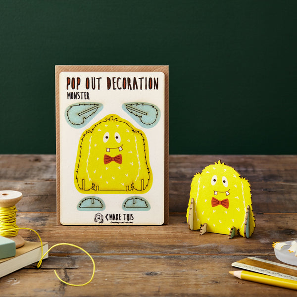 Pop Out Monster Greeting Card