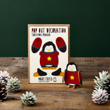 Pop Out Penguin Christmas Card