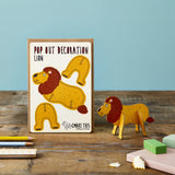 Pop Out Lion Greeting Card