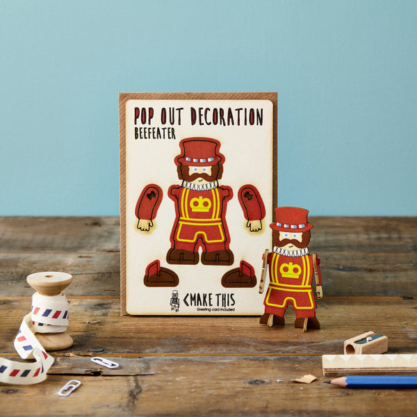 Pop Out Beefeater Greeting Card