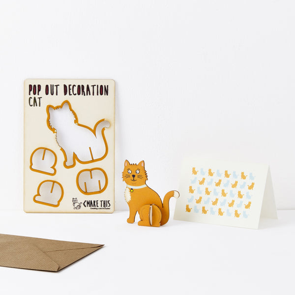 Pop Out Cat Greeting Card