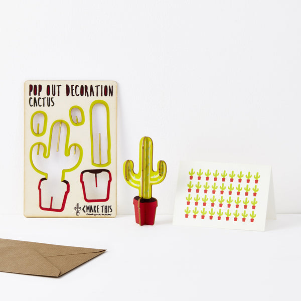 Pop Out Cactus Greeting Card