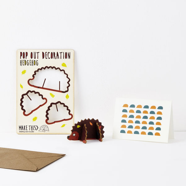 Pop Out Hedgehog Greeting Card