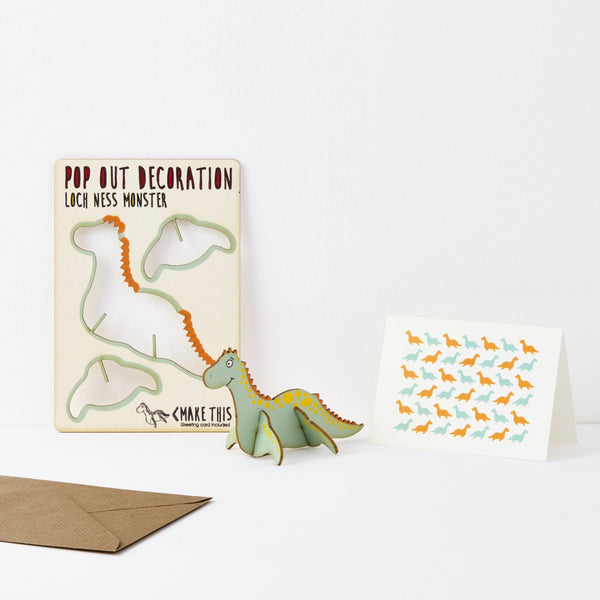 Pop Out Loch Ness Monster Greeting Card