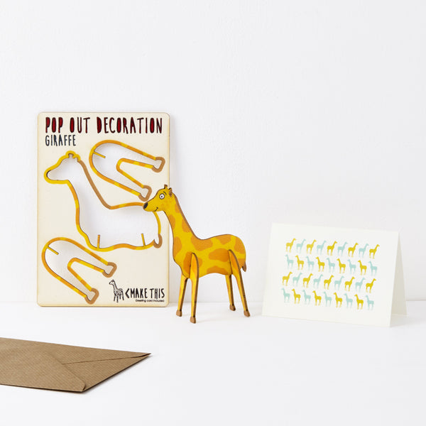 Pop Out Giraffe Greeting Card