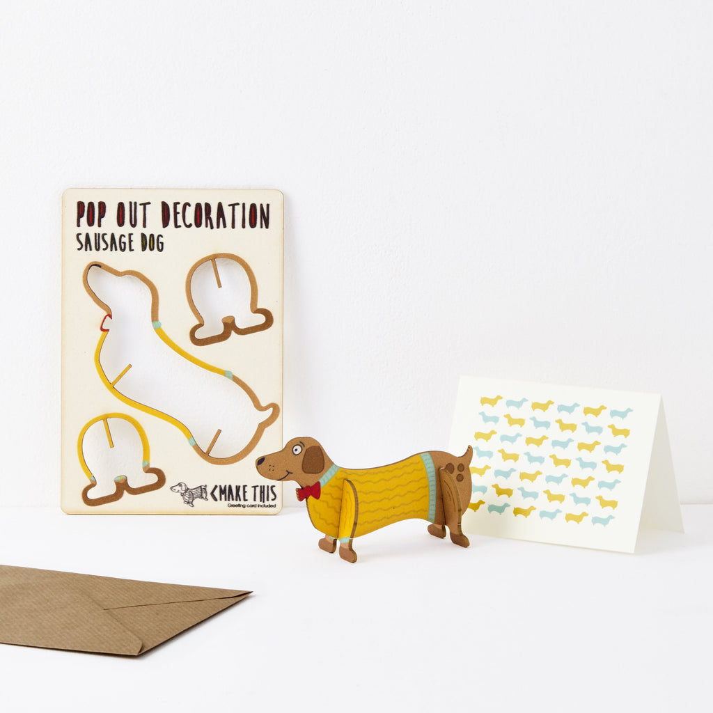 Sausage dog card greeting card the pop out card company the pop out sausage dog greeting card m4hsunfo
