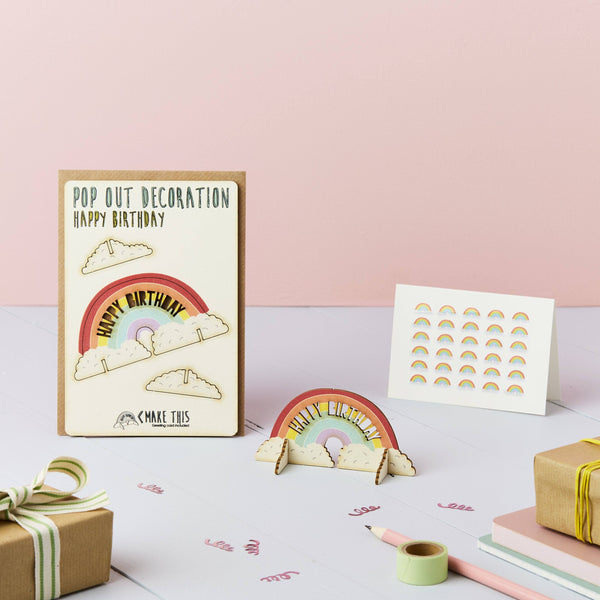Pop Out Happy Birthday Rainbow Card