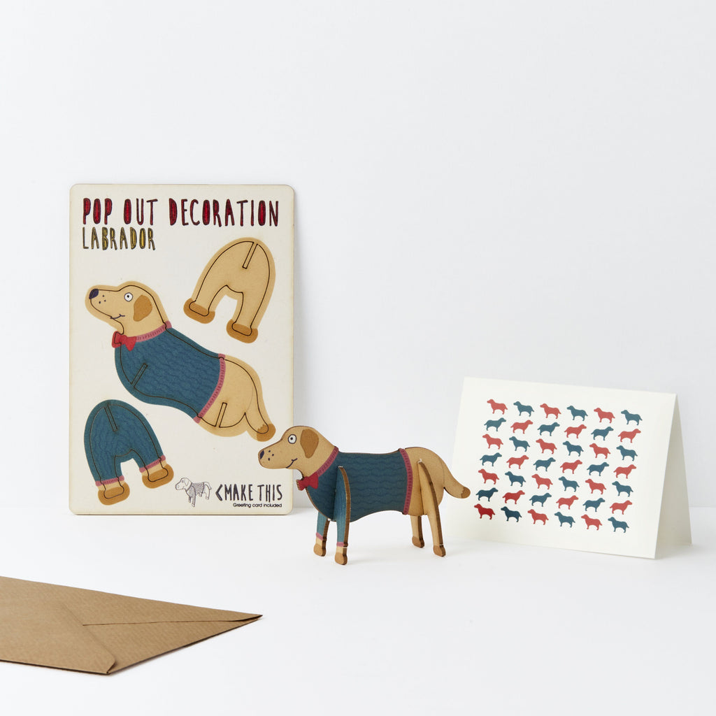 Pop Out Labrador Greeting Card