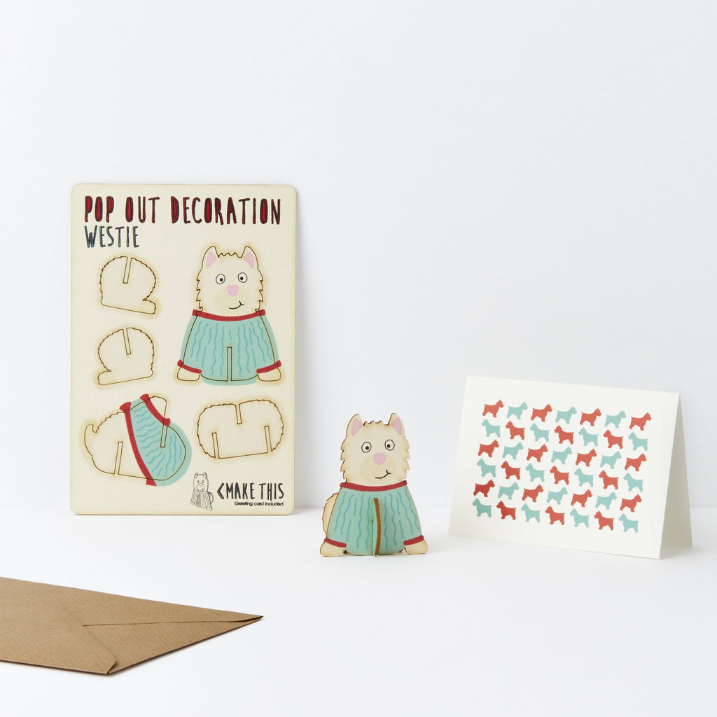 Pop Out Westie Greeting Card