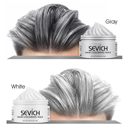 Sevich hair color wax silver grey temporary hair dye men and women diy mud dye cream hair gel for style