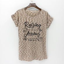 Summer Casual Women's T-Shirt Thin Round Neck Short Sleeve Printed Pattern Top