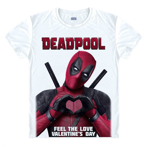 Deadpool Summer Casual Man T Shirt New Deadpool 2 The Movie Marvel White