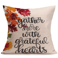 Happy New Year Pillowcase Fall Thanksgiving Day Soft Linen Cushion Cover Home Decor - Beth's Closet