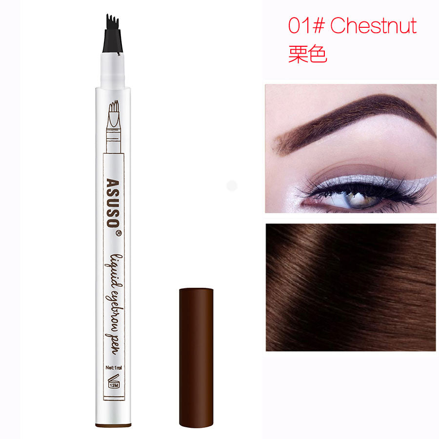 Hot Sale Microblading Eyebrow Tattoo Pen Waterproof Eye Makeup 3 Colors Easy Use Eyebrow Pen Deep Color Pencil Eyebrow