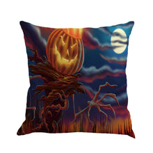 Happy Halloween Pillow Cases Linen Sofa Cushion Cover Home Decor - Beth's Closet