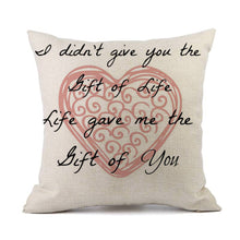 Valentines Pillow Cases Linen Sofa Cushion Cover Home Decor Pillow Case