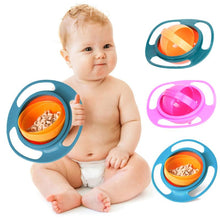 Universal Baby 360 Degree Rotary Gyro Umbrella Bowl Practical Spill-Proof Children Kids Tableware Feeding Balance Novelty Bowl
