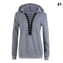 OUO Clothing Womens V Neck Long Sleeve Hoodies Sweatshirt Jumper Pullover Tops
