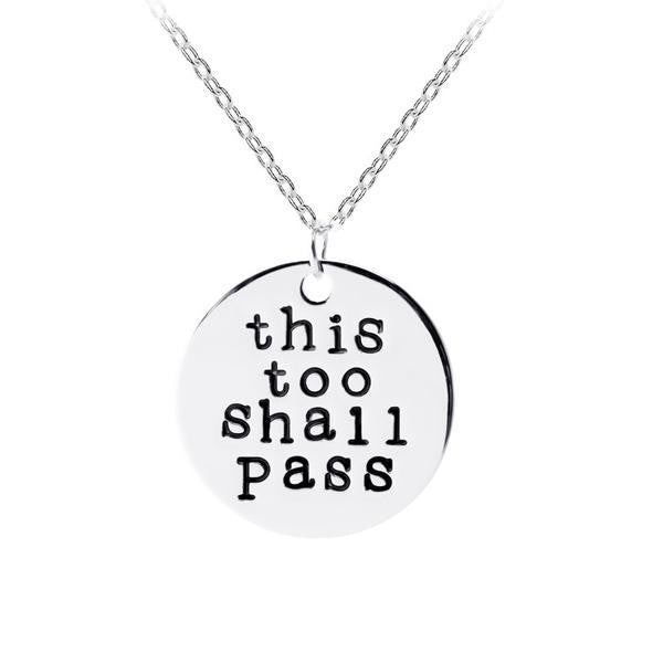 This Too Shall Pass Pendant