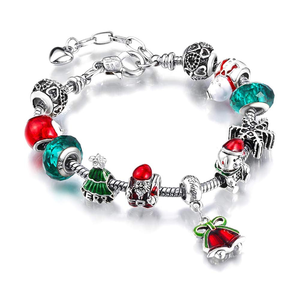 Christmas Bracelet Festival Jewelry Bead Gift Party Fashion Bracelet - Beth's Closet