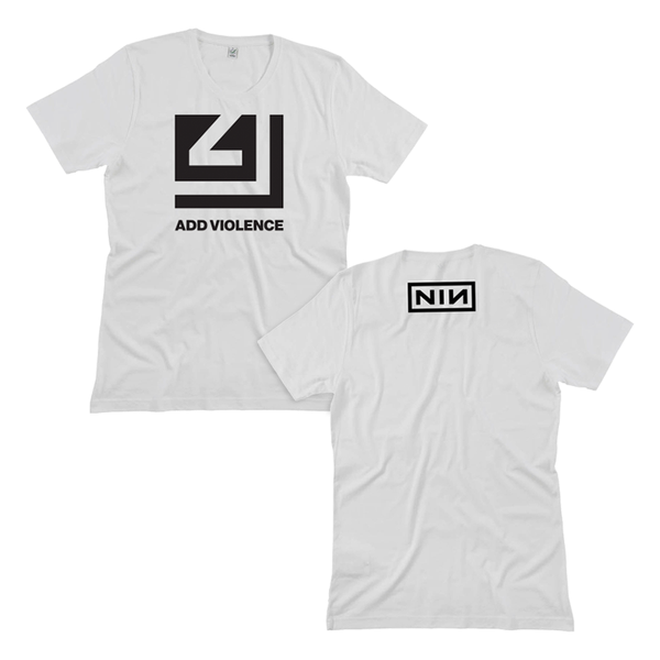 ADD VIOLENCE CUTOUT WHITE TEE