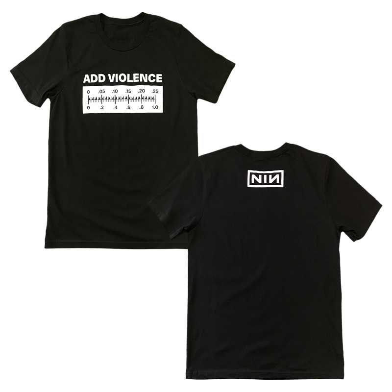 ADD VIOLENCE METER BLACK TEE (BUNDLE ONLY)