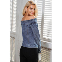 Load image into Gallery viewer, Sexy Off Shoulder Denim Jacket