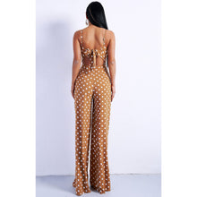 Load image into Gallery viewer, Tan Polka Dot Jumpsuit Evelyn Belluci