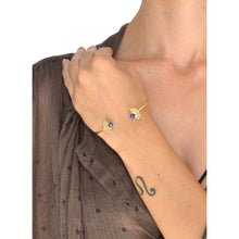 Load image into Gallery viewer, Sunburst Stone Open Cuff Bracelet