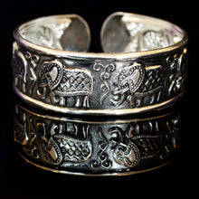 Load image into Gallery viewer, Ganapati Elephant Tibetan Silver Bracelet