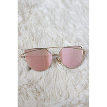 Load image into Gallery viewer, Rose Gold Double Frame Sunglasses