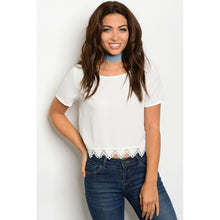 Load image into Gallery viewer, Women's White Crop Top