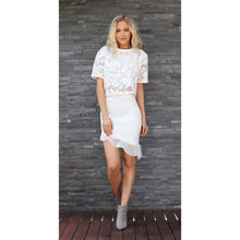 Load image into Gallery viewer, TING-A-LING Asymmetrical Skirt - White