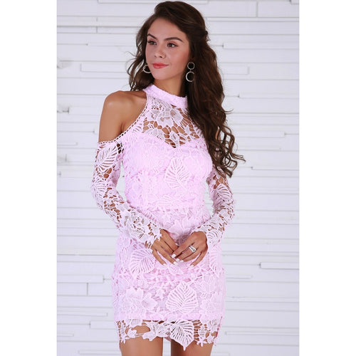 Pink Lace Party Dress