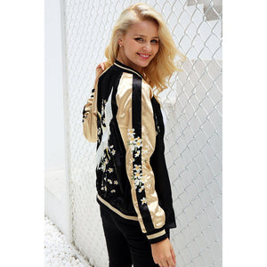 Vintage Embroidery Basic Jacket