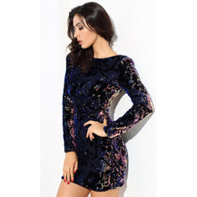 Load image into Gallery viewer, Velvet Sequin Party Dress