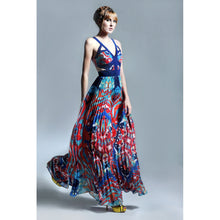 Load image into Gallery viewer, Oceanic Print Maxi dress