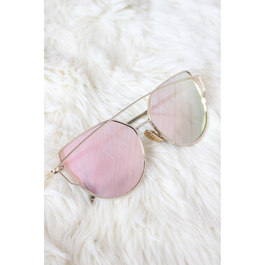 Rose Gold Double Frame Sunglasses