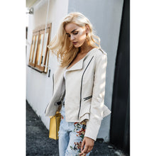 Load image into Gallery viewer, Casual Zipper Ruffle Basic Jacket