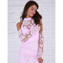 Load image into Gallery viewer, Pink Lace Party Dress