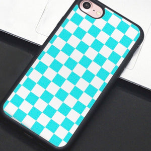 Blue & White Checkered IPhone Case